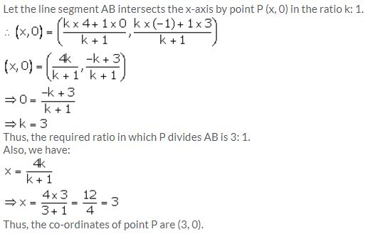 Selina Concise Mathematics Class 10 ICSE Solutions Section and Mid-Point Formula - 72