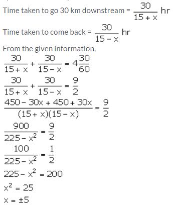 Selina Concise Mathematics Class 10 ICSE Solutions Solving Simple Problems (Based on Quadratic Equations) - 50