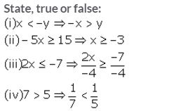 Selina Concise Mathematics Class 10 ICSE Solutions Linear Inequations (in one variable) - 1
