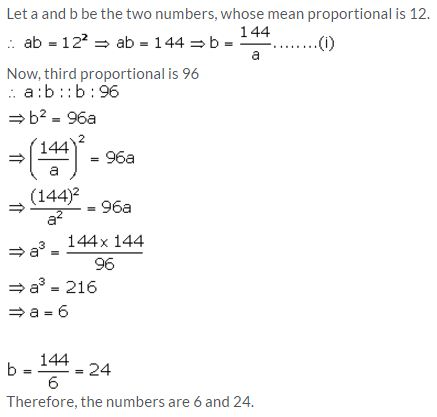 Selina Concise Mathematics Class 10 ICSE Solutions Ratio and Proportion (Including Properties and Uses) - 62