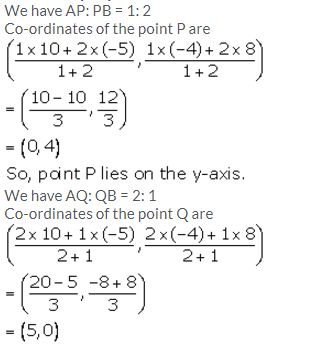 Selina Concise Mathematics Class 10 ICSE Solutions Section and Mid-Point Formula - 19