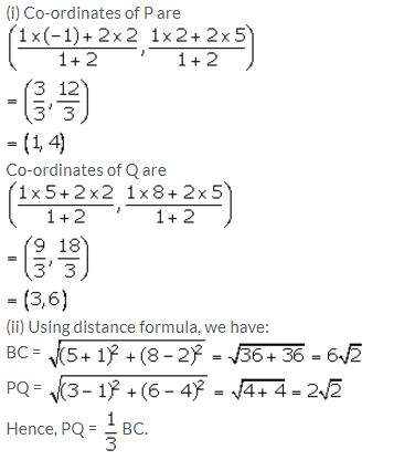 Selina Concise Mathematics Class 10 ICSE Solutions Section and Mid-Point Formula - 23