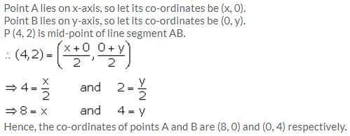 Selina Concise Mathematics Class 10 ICSE Solutions Section and Mid-Point Formula - 40