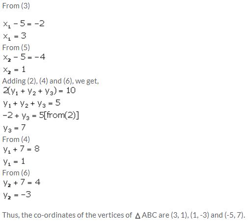 Selina Concise Mathematics Class 10 ICSE Solutions Section and Mid-Point Formula - 52