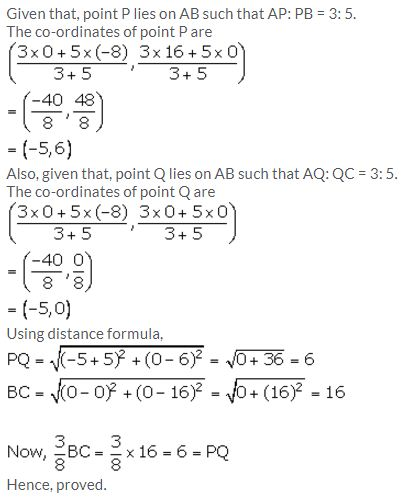 Selina Concise Mathematics Class 10 ICSE Solutions Section and Mid-Point Formula - 61