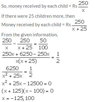Selina Concise Mathematics Class 10 ICSE Solutions Solving Simple Problems (Based on Quadratic Equations) - 35