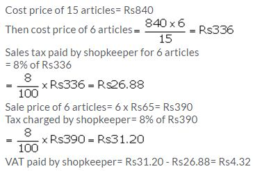 Selina Concise Mathematics Class 10 ICSE Solutions Value Added Tax image - 10