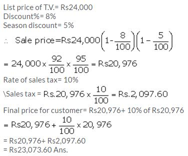 Selina Concise Mathematics Class 10 ICSE Solutions Value Added Tax image - 8