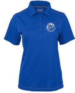 ICSEW polo blue shirt with logo
