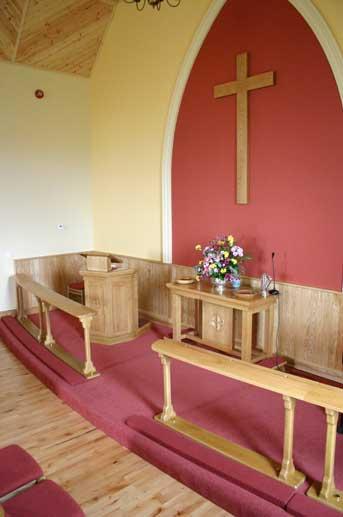 red chair covers narrow office custom made communion rails | ics church furnishers