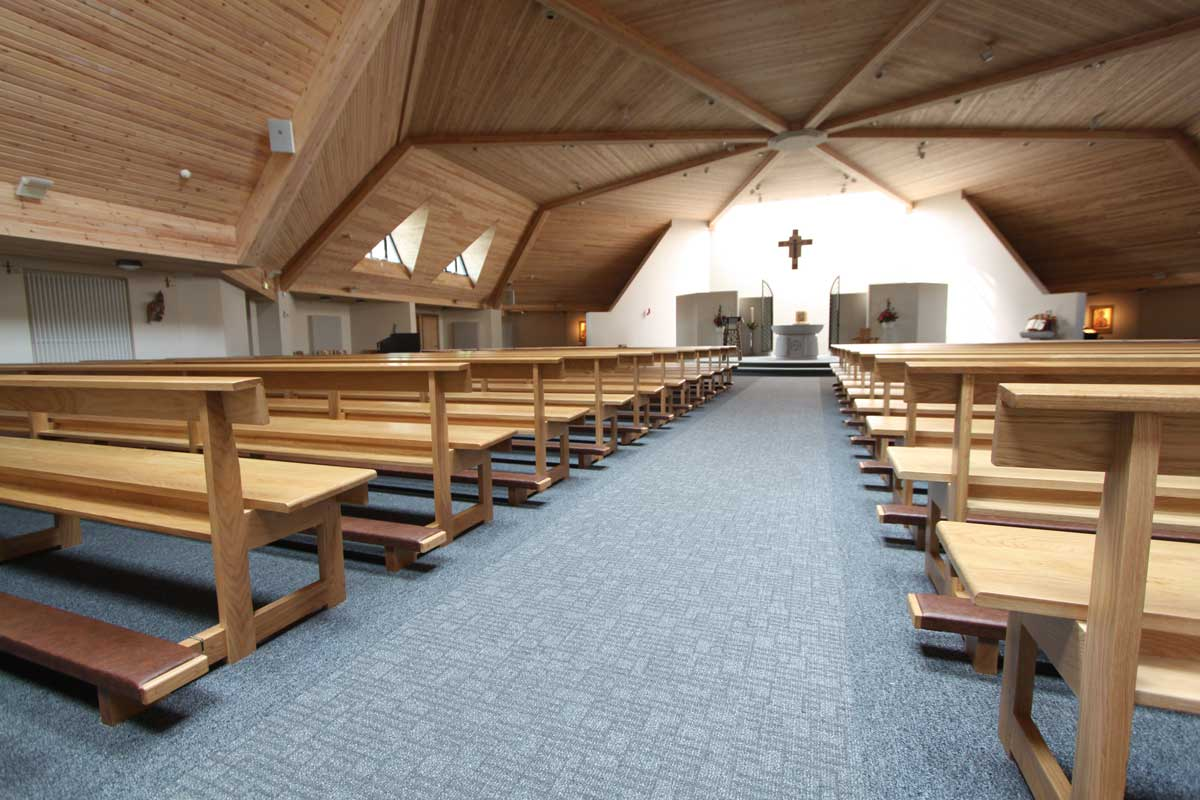 church chairs with kneelers director chair covers walmart ics furniture modern pews  furnishers