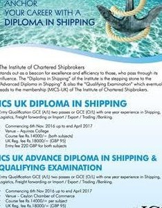 Diploma in shipping ics uk also institute of chartered shipbrokers  sri lanka sets the standards rh icslanka