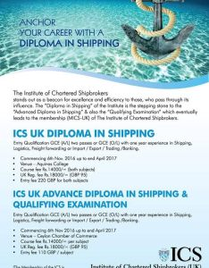 Diploma in shipping ics uk also institute of chartered shipbrokers rh icslanka