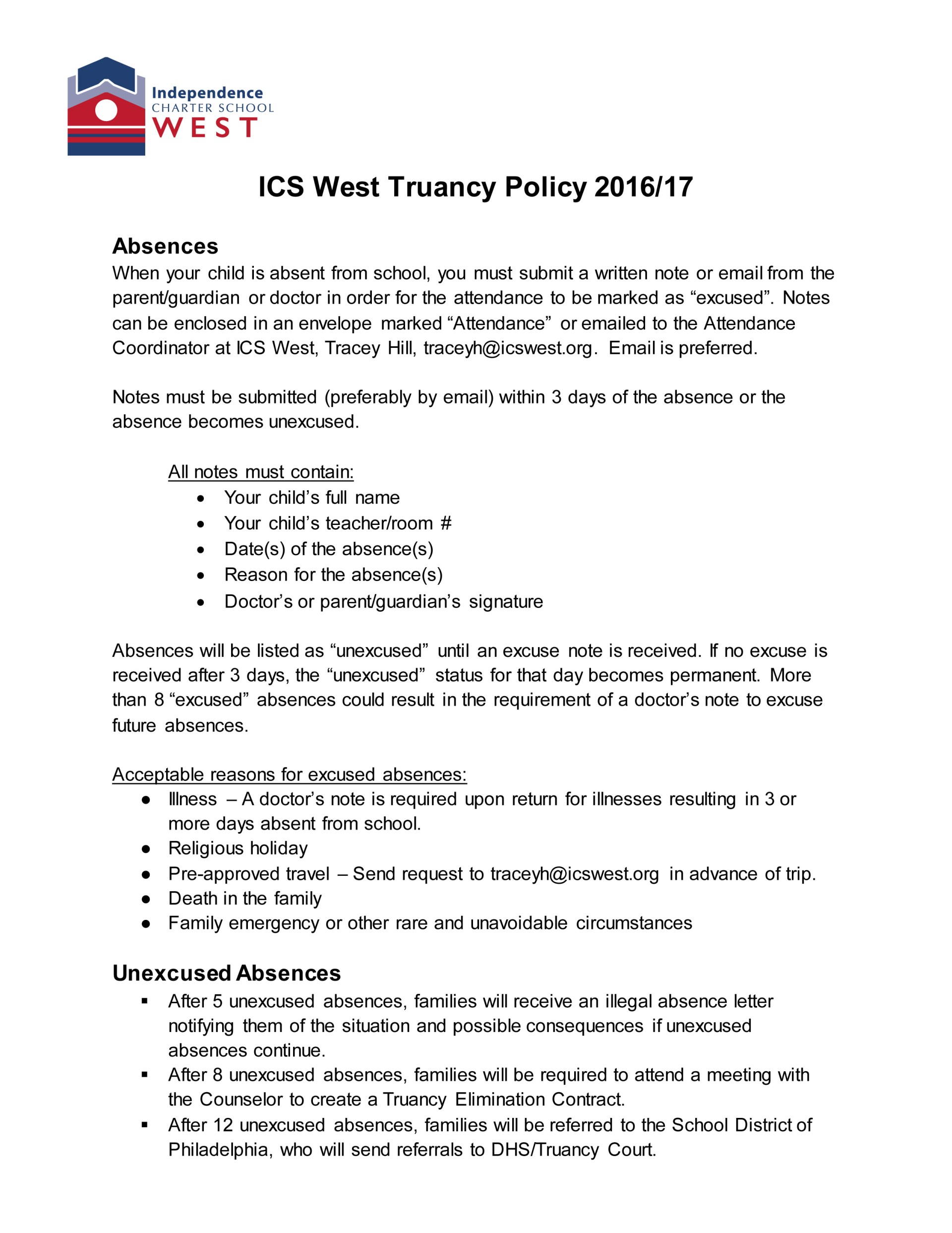 ICSW Truancy Policy 2016-17 FINAL-1