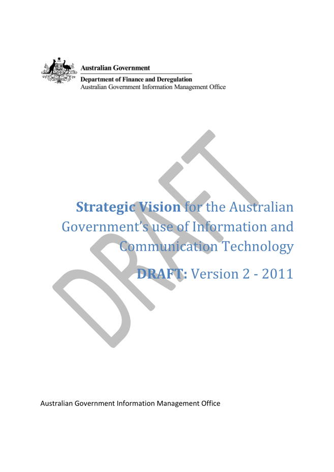 Draft Information and Communication Technology Strategic