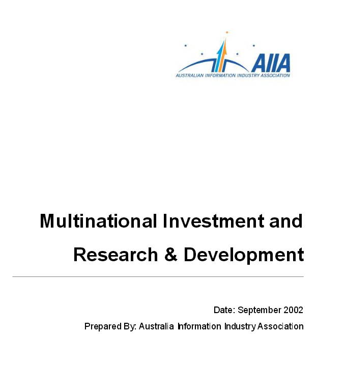 Survey of ICT Multinational Corporations Investment in R&D