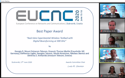 TERRANOVA team wins Best Paper award at the online EUCNC 2020 event.