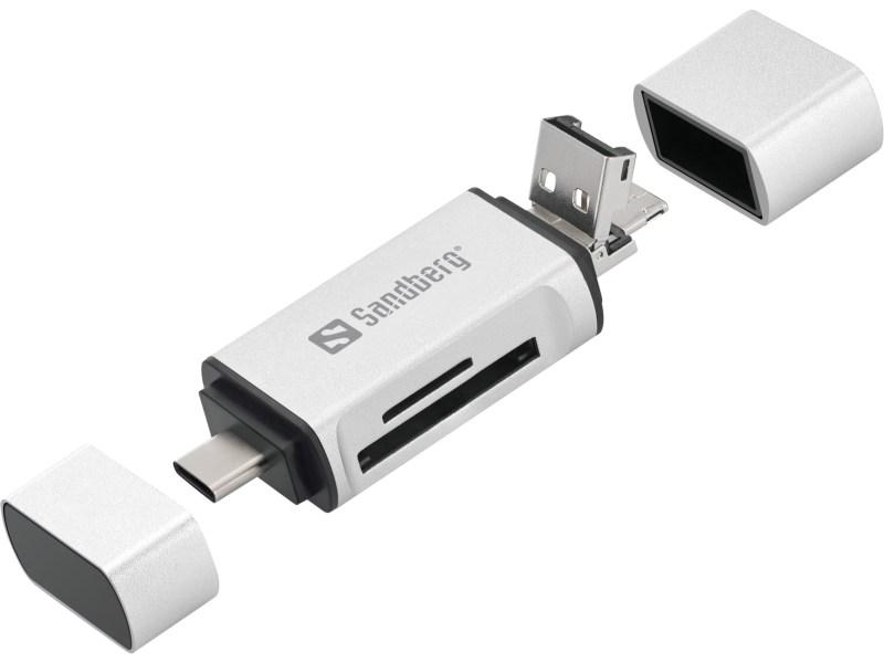 Card Reader USB-C+USB+Micro-USB
