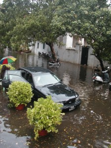 Monsoon day in Pondicherry