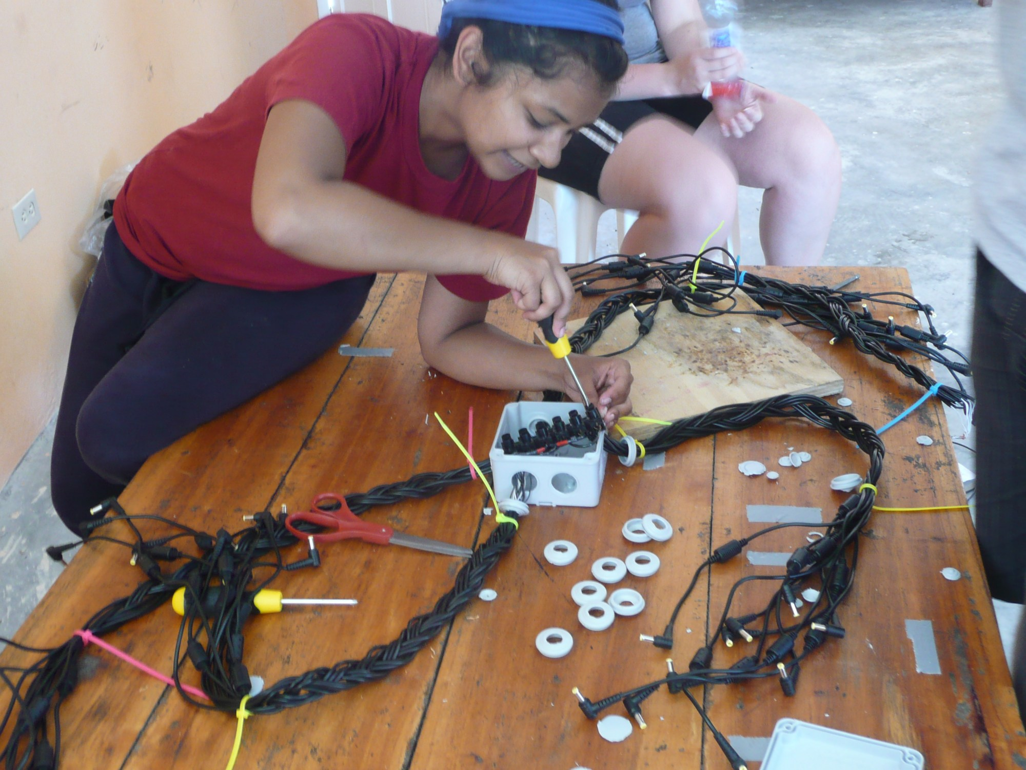 hight resolution of shah had been to haiti three times before to conduct site assessments but wiring the school for charging laptops was her first engineering project there