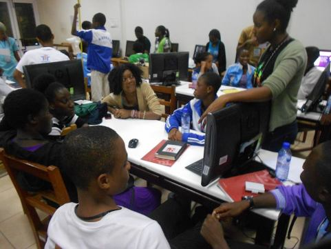 Children at ICT training session powered by Megatek ICt Academy