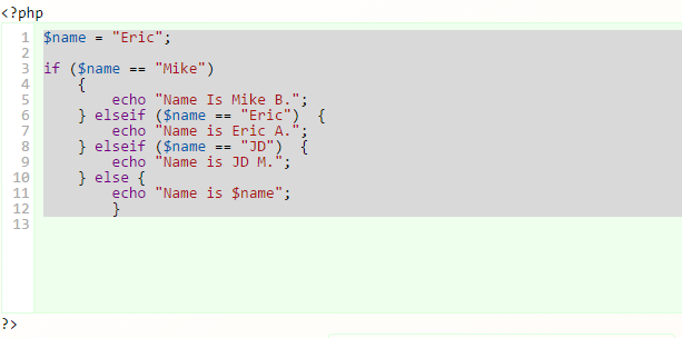 PHP 5 if…else…elseif Statements