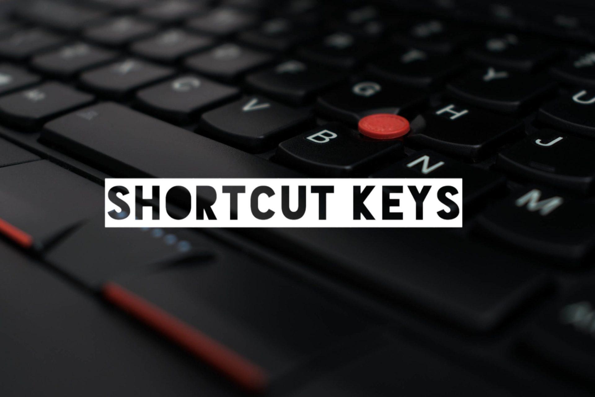 Computer & Keyboard Shortcut Keys