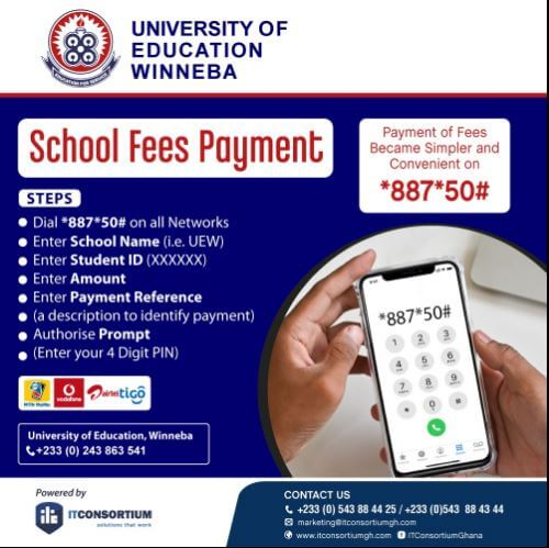 How To Pay UEW School Fees With Mobile Money