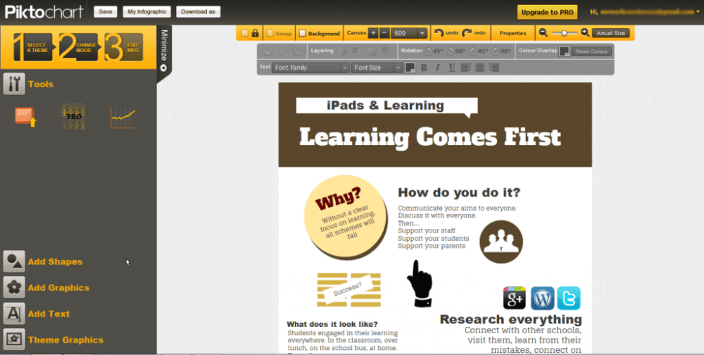 Make your own infographics for free (2/2)
