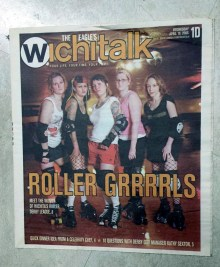 4-19-06 ICT Roller Girls in the Wichita paper