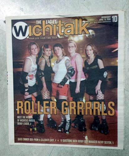 4-19-06 ICT Roller Girls in the Wichita paper