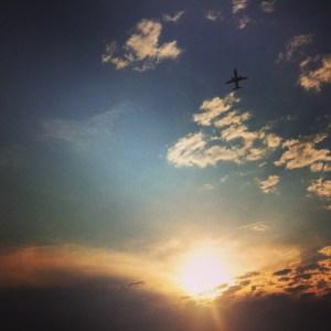 Plane landing at National Airport, Washington, DC. Taken with iPhone 4 camera.