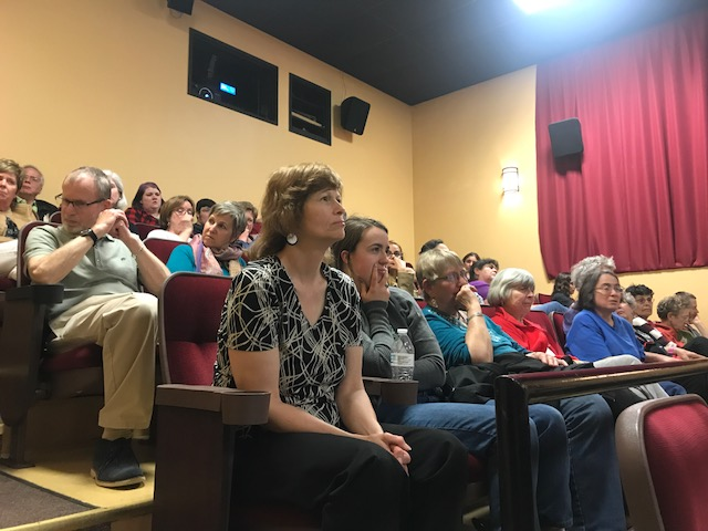 Audience at film