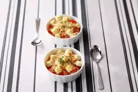 Petit Gratin à la tomate et au Kiri ®