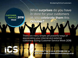 Ready to celebrate you customers #CSWeek2016