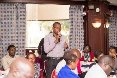 Alvin Mokaya poses a question to Chris Bitti