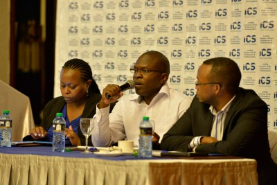 Gad Opondo, CEO Reach Creatives, offering a response to question raised by the guests