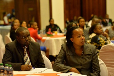 Guests listening attentively to the social media experts