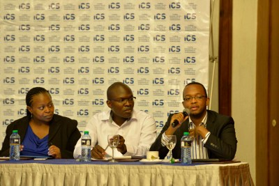 Mark Kaigwa, CEO Nendo, giving feedback to a question raised by the guests