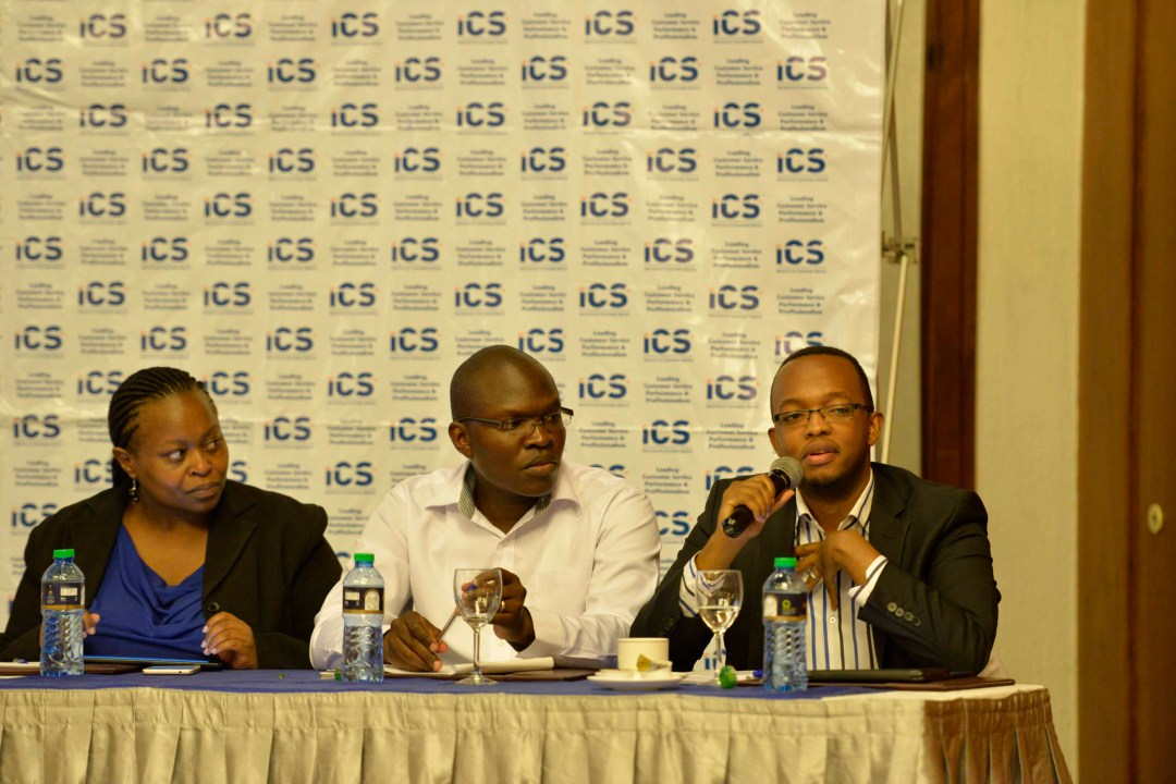 Mark Kaigwa CEO Nendo giving feedback to a question raised by the guests