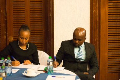 The attendees jotting down important points shared by the panelist