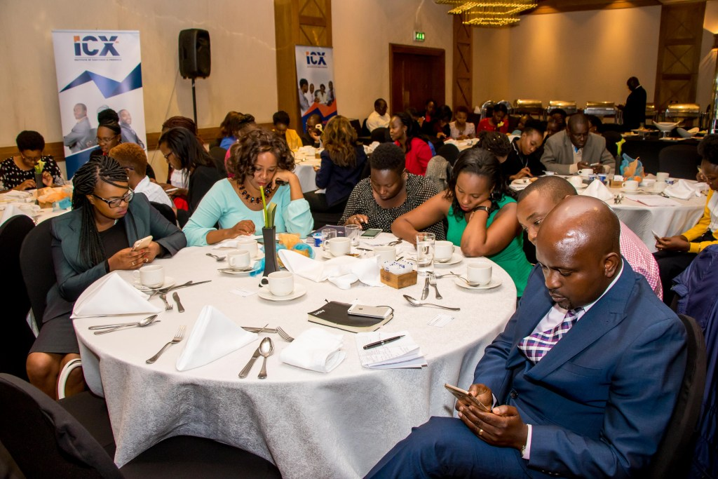 Guests giving feedback using the MSurvey mobile platform