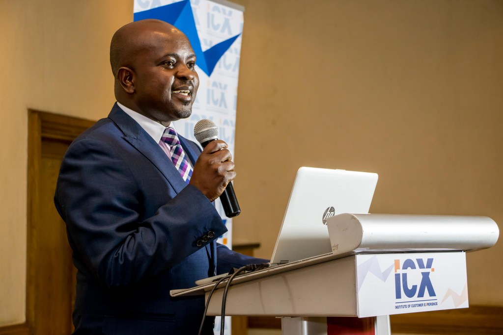 ICX Kenya member, Julius Odemba , giving the vote of thanks to everyone who made the event successful