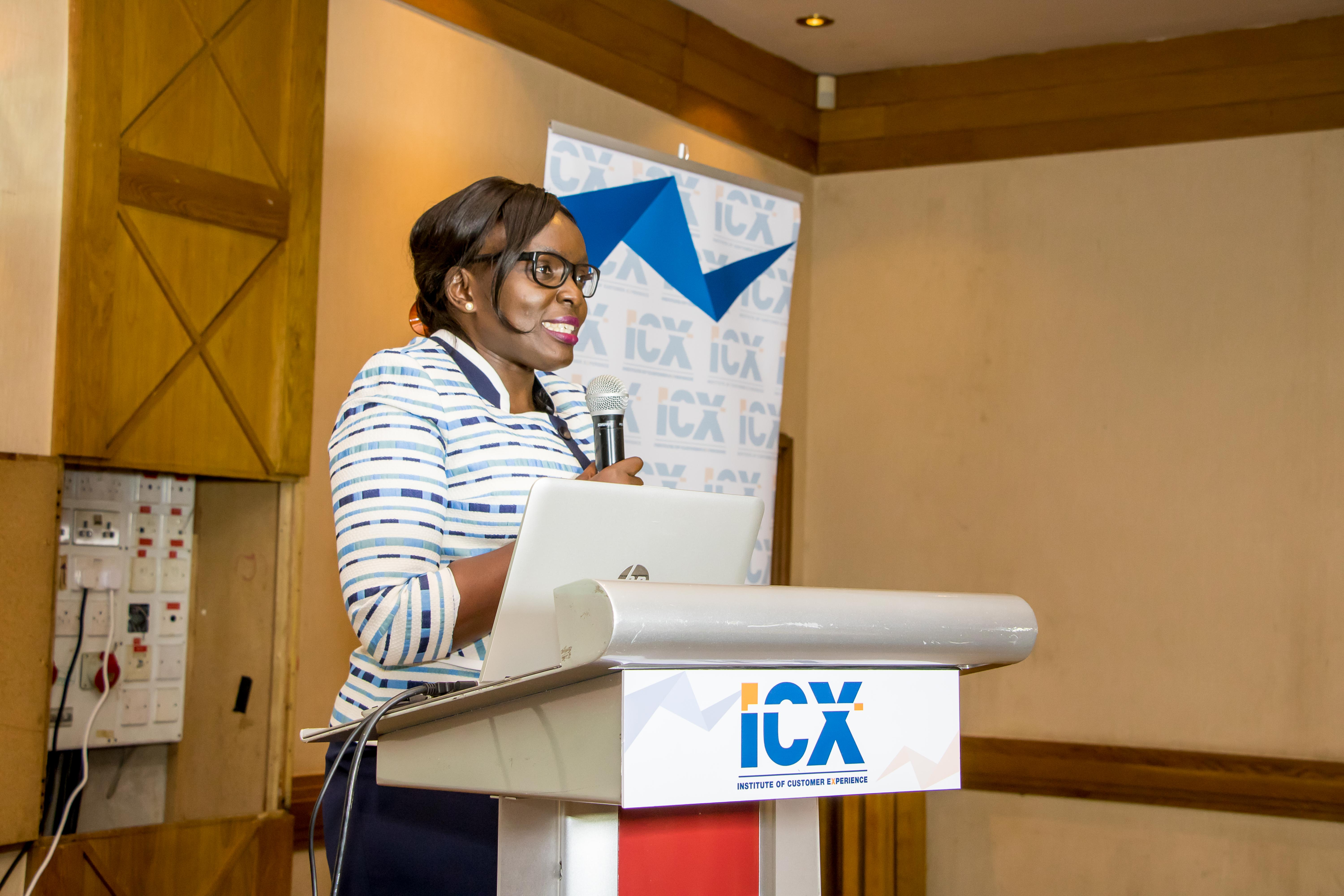 The guest speaker, Grace Wandera – Deputy Commissioner , KRA as she addresses the guests