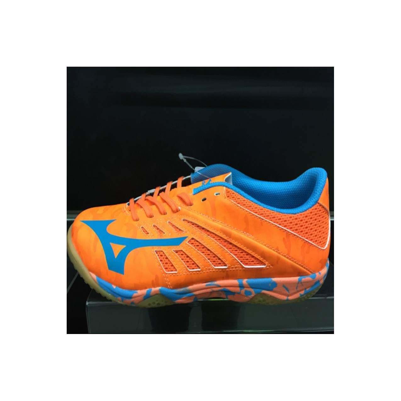 Sepatu futsal mizuno original basara 103 sala orange clown/blue
