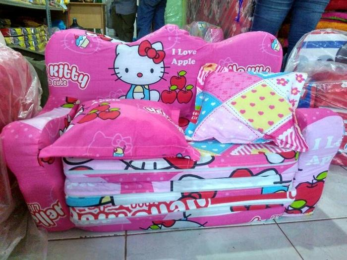 sofa bed anak hello Kitty pink