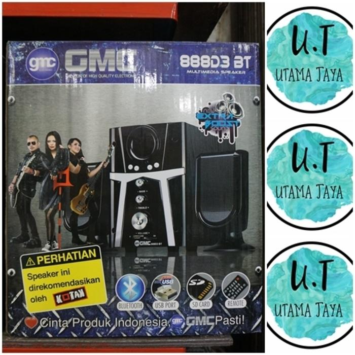 Terlaris GMC SPEAKER BLUETOOTH 888D3 BT speaker aktif / speaker bass