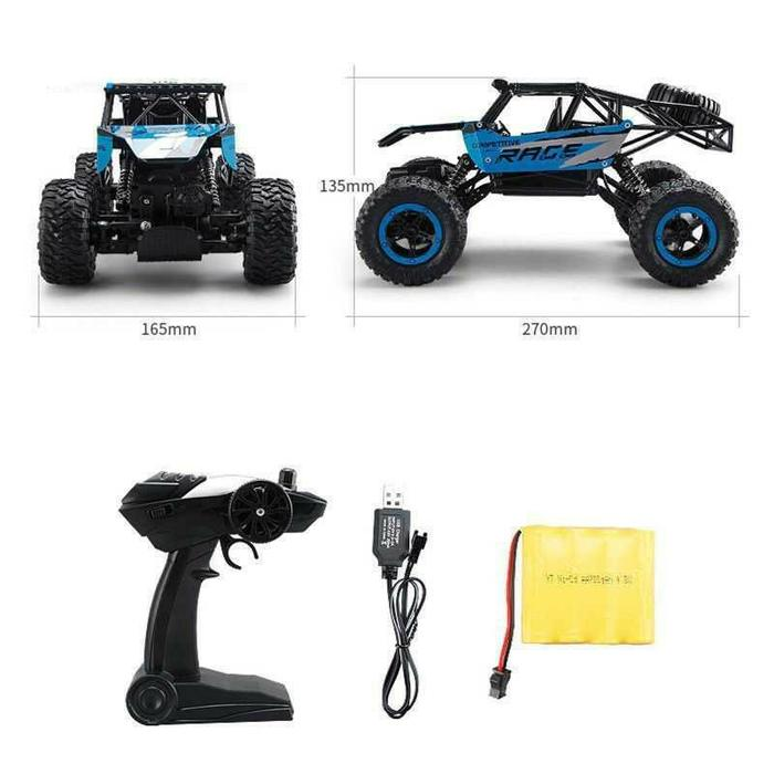 Monster Truck Bigfoot Off Road RC Remote Control 4WD 2.4GHz -  Mobil & Truk RC -  Mainan Remote Control - Mobil Remote Keren - Best Quality