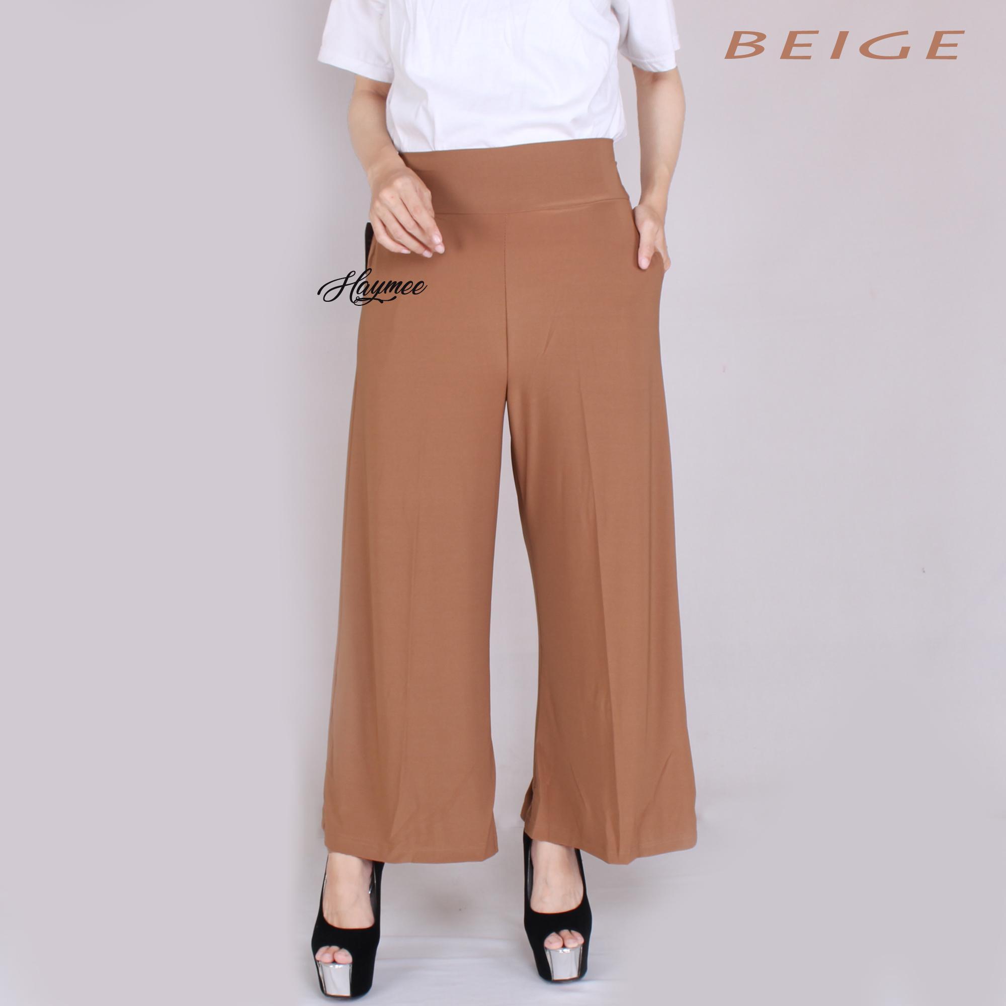HaymeeStore Celana Kulot Jersey Panjang  Wanita Celana Cullot Jersey Import Wanita Kantor Casual Fashion