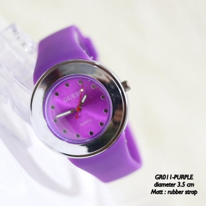JAM TANGAN DISTRIBUTOR GROSIR MURAH SUPPLIER MONOL GUESS GENEVA RUBBER